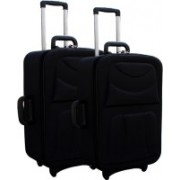 LUXOY XIPPER High Quality Imported Combo 24+20 Check-in Luggage - 24 inch(Black)