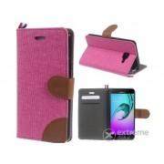 Husa piele artificiala si textil Gigapack pentru Samsung Galaxy A5 (2016) (SM-A510F), roz-maro
