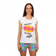 Batman Ready for...fehér póló és kék nadrág, lány pizsama