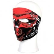 Merkloos Stoffen masker rood schedel