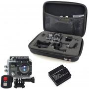 EY Ultra HD 4K Videocámara cámara WiFi Pantalla dual de acción deportiva impermeable