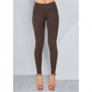 Basic Leggings Pants - Brown