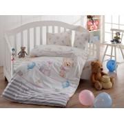 Lenjerie de pat pentru copii, Majoli Bahar Home Collection, material: 100% bumbac, 110BHR2029