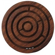 Ratna's Toyztrend Wooden Labyrinth Board Game Ball In Maze Puzzle Jigsaw Handcrafted In India