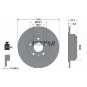 TEXTAR Discos De Freno HONDA 92165803 42510SZ3J00