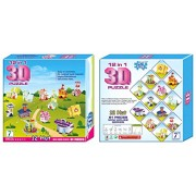 12 in 1 3D Mini House Puzzle Game DIY Kids Toys Play Architecture Educational Gone are the times of 2D Puzzles its 3D