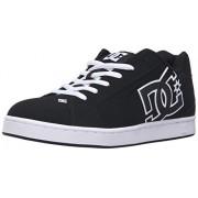 DC Men's NET Shoe, Black/Black/White, 15 D US