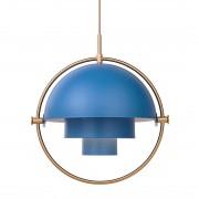 Gubi Multi-Lite Hanglamp Messing Blauw