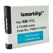 ismartdigi NB-11L reemplazo 3.7V 680mah paquete de baterias para canon A4000 IS ELPH 110 HS + mas - blanco