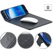 Callstel Mauspad mit Induktions-Ladestation für Qi-kompatible Smartphones, 5 W
