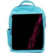 Snoogg Eco Friendly Canvas Dark Pink Abstract Design Designer Backpack Rucksack School Travel Unisex Casual Canvas Bag Bookbag Satchel 5 L Backpack(Blue)