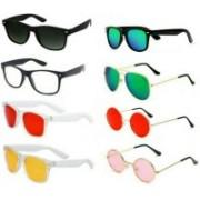 EDDYFASHIONHUB Wayfarer, Aviator, Round Sunglasses(Red, Black, Yellow, Clear, Green, Pink, Blue, Multicolor)
