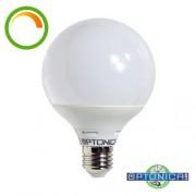 Dimmelhető LED lámpa, égő, E27 foglalat, G95 nagy gömb forma, 12 watt, 270 fok, meleg fehér - Optonica