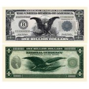 Set of 10 Bills-Classic Billion Dollar Bill by American Art Classics