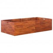 vidaXL Jardinieră de grădină, lemn de acacia, 200 x 100 x 50 cm