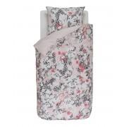 Esprit Obrázkové povlečení, bavlněné povlečení na postel, obrázkové povlečení, postel v květinách, šedo-růžová barva, Esprit, 135 x 200 cm - 135x200+80x80