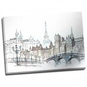 Tablou Paris cu aspect de schita in creion