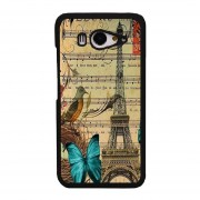 Y&M Eiffel Tower Blue Butterfly Music Note Phone Covers for XiaoMi Mi 2 (Multicolor)
