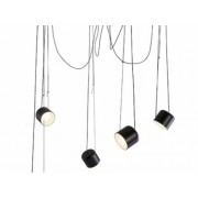 Paco lampara colgante metal blanco o negro mate 5 luces