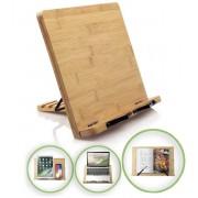 Bangosa lees boek Standaard - Bamboe Boekenstandaard Houder - Kookboekstandaard - iPad Standaard/Tablet Standaard