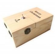 Creative Gracioso Presente Inútil De Madera Caja Novela Anti Estres Toy, Size: 15 * 9 * 7cm (luz Madera)