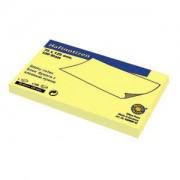 Самозалепващи листчета 125x75мм 100л жълти