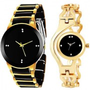 Varni Retail IIK Gold Black and Gold Chain combo for men and women