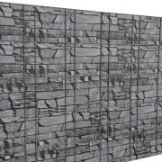 PremiumXL - [neu.haus] Folija za ograde, zaštita od pogleda (siva-efekt kamena, 35mx19cm)