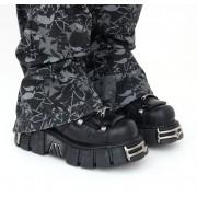 bőr csizma - String Shoes (106-S1) Black - NEW ROCK - M.106-S1