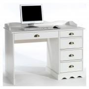 IDIMEX Schreibtisch COLETTE mit Aufsatz in weiß