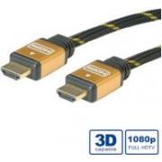 Roline GOLD HDMI kabel sa mrežom, HDMI M - HDMI M, 2.0m, 11.04.5502