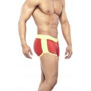 Narciso Square Cut Trunk Swimwear ATLANTIC RED/YELLOW