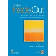 Macmilian New Inside Out Beginner: Workbook (With Key) + Audio CD Pack - Sue et al Kay