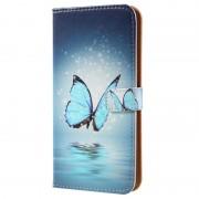 Capa tipo Carteira Glam para Samsung Galaxy S8+ - Borboleta Azul