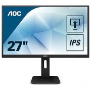 "AOC 27"" 1920x1080 Full HD 5ms Multimedya HDMI VGA DVI DisplayPort USB3.0 IPS Monitör Siyah 27P1"