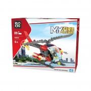 Joc constructie Blocki, Elicopter pompieri, 89 piese