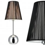 [lux.pro]® Lámpara de mesa moderna (E14) - Negro, cromo - Modelo: Vera
