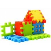 Kingwell™ Interlocking Builders Blocks | Play Set for kids Big Building Block | Home Jr Bricks House Building Blocks 20 PCS