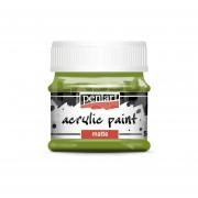 Pentart Matt oliva színű akril bázisú hobbi festék 50 ml