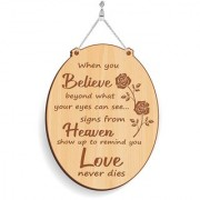 100yellow Wood Love Never Dies Designer Shape Decorative Plate Multi - Pack of 1