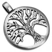 Ezüst színű, életfa mintájú medál