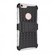 Funda de proteccion contra la espalda Armor Case w / Stand para IPHONE 6S plus - Blanco + Negro