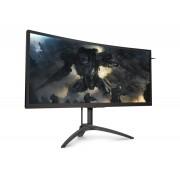 """AOC AG352UCG6 35"""" Ultra-Wide Quad HD LED Matt Flat Black, Red computer monitor"""