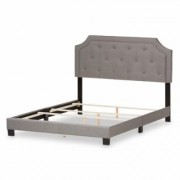 Baxton Studio Willis Gray Fabric Upholstered Full Bed