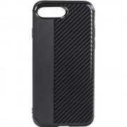 Husa Capac Spate Carbon Negru Apple iPhone 7 Plus, iPhone 8 Plus STAR