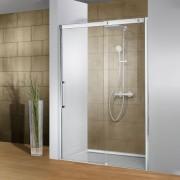 Schulte Home Porte de douche coulissante Manhattan, 160 cm, verre transparent, anticalcaire, ouverture vers la droite