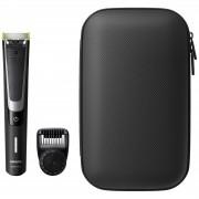 Aparat hibrid de barbierit si tuns barba Philips OneBlade Pro QP6510 64 Umed Uscat Pieptene 12 lungimi Negru Argintiu + trusa calatorie