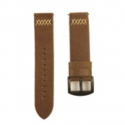 Crazy Horse Skin Cowhide Leather Smart Watch Band Replacement Strap for Samsung Galaxy Watch 46mm - Brown