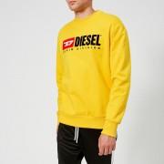 Diesel Men's Crew Division Sweatshirt - Yellow - XL - Yellow