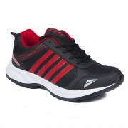 Asian Men Black & Red Lace-Up Training Shoes